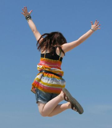 Springend meisje beweging